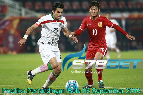Prediksi Skor China PR vs Iran 06 September 2016