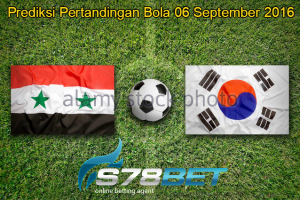 syria-vs-south-korea-flags-on-green-soccer-field-gdnt0m