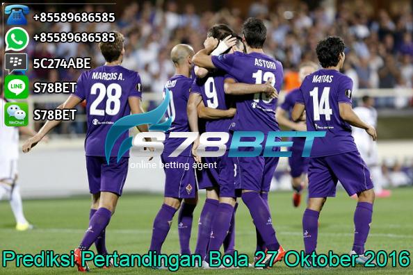 Prediksi Skor Fiorentina vs Crotone 27 Oktober 2016