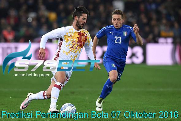 Prediksi Skor Italy vs Spain 07 Oktober 2016