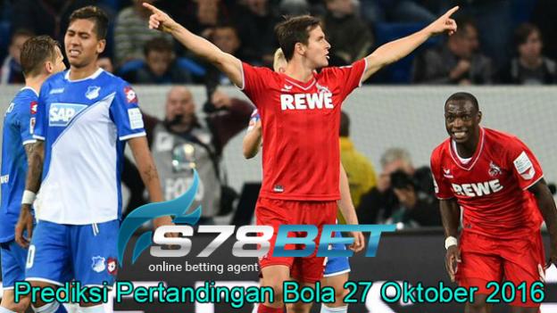 Prediksi Skor Koln vs Hoffenheim 27 Oktober 2016