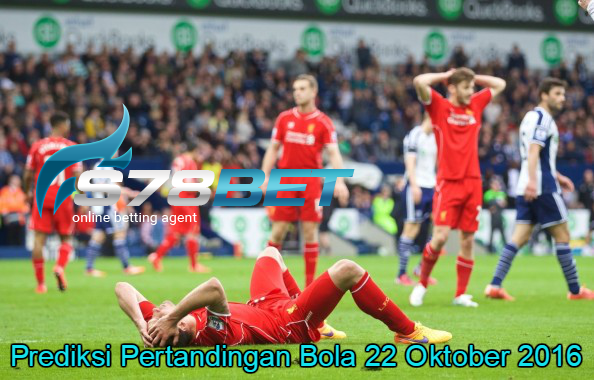 Prediksi Skor Liverpool vs Westbromwich Albion 22 Oktober 2016