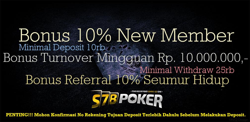 S78Poker.co Website Agen Capsa Online Promo Bonus Terbesar