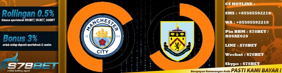 Prediksi Manchester City vs Burnley 20 Oktober 2018