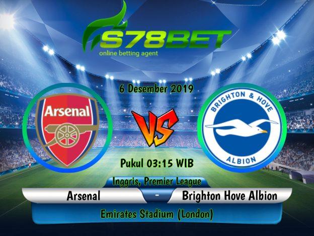 Prediksi Skor Arsenal vs Brighton Hove Albion 6 Desember 2019
