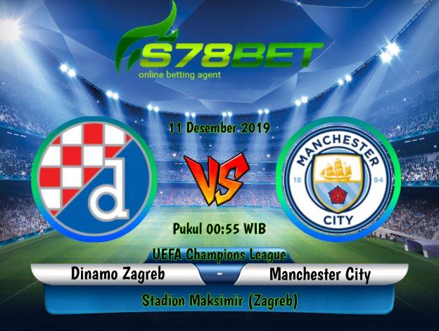 Prediksi Skor Dinamo Zagreb vs Manchester City 12 Desember 2019