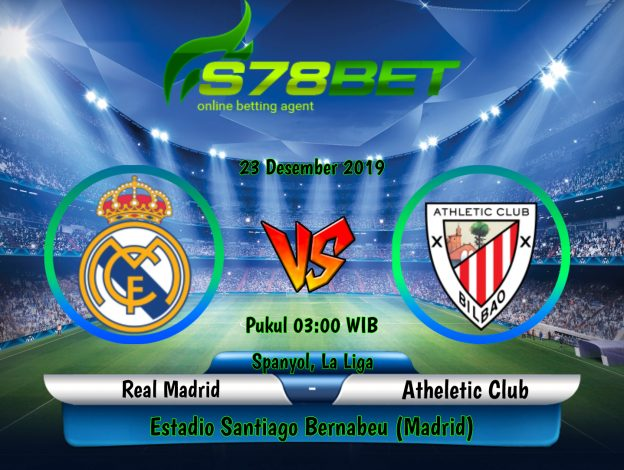 Prediksi Skor Real Madrid vs Atheletic Club 23 Desember 2019