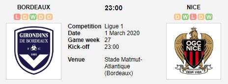 Prediksi Skor Bordeaux vs Nice 1 Maret 2020