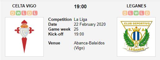 Prediksi Skor Celta Vigo vs Leganes 22 Febuari 2020