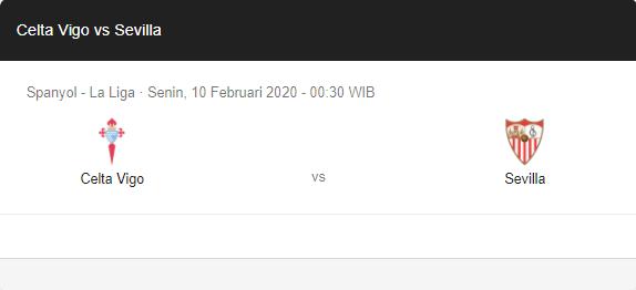 Prediksi Skor Celta Vigo vs Sevilla 10 Februari 2020
