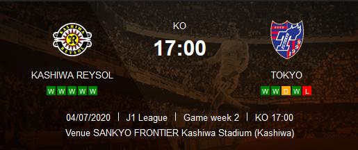 Prediksi Skor Kashiwa Reysol vs Tokyo 04 Juli 2020