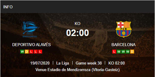 Prediksi Alaves vs Barcelona 19 Juli 2020