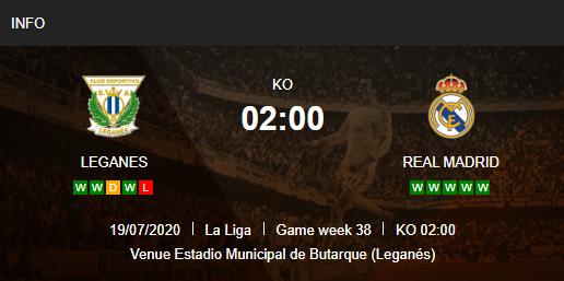 Prediksi Leganes vs Real Madrid 19 Juli 2020