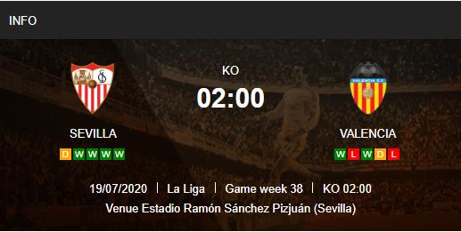 Prediksi Sevilla vs Valencia 19 Juli 2020