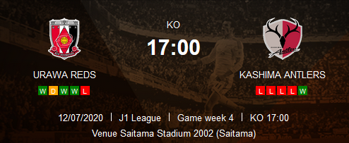 Prediksi Skor Urawa Reds vs Kashima Antlers 12 Juli 2020