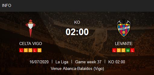 Prediksi Celta Vigo vs Levante 16 Juli 2020